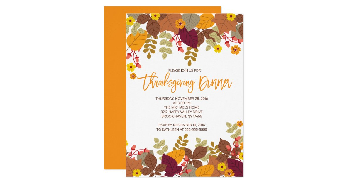 Modern Thanksgiving Invitations & Announcements | Zazzle