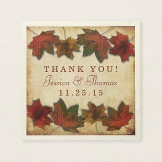 Autumn Leaves Thanksgiving Dinner Paper Napkin