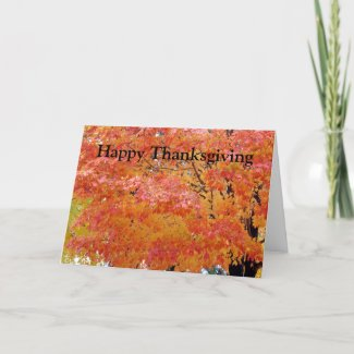 Autumn Leaves Thanksgiving Greeting card