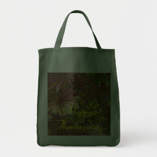 Autumn Leaves: Thanksgiving - Grocery Tote Canvas Bags