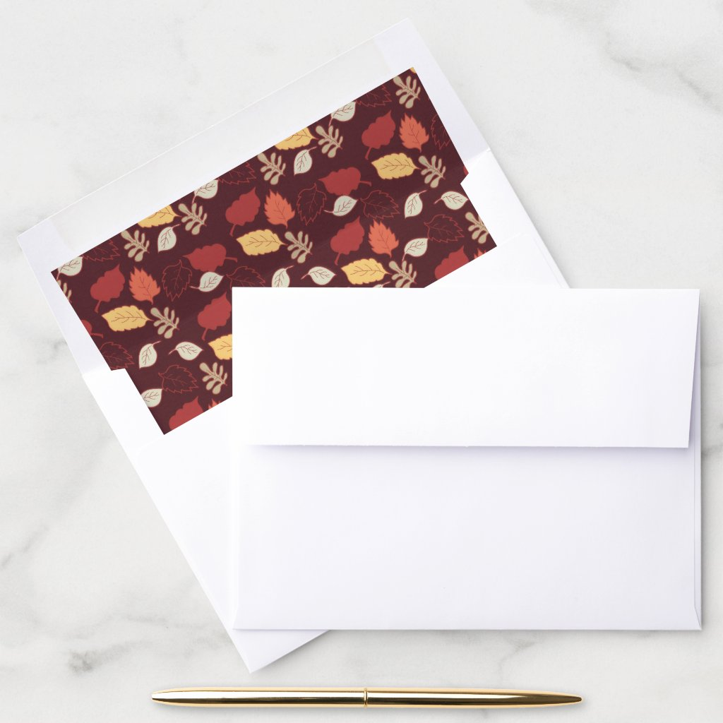 Autumn Leaves | Thanksgiving Holiday Envelope Liner