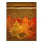 "Autumn Leaves Thanksgiving 4.25"" X 5.5"" Invitation Card"