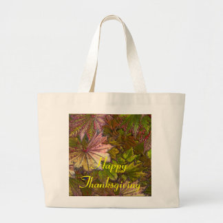 Autumn Leaves: Thanksgiving - Jumbo Tote Tote Bags