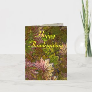 Autumn Leaves: Thanksgiving - Note Card card