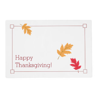 Autumn Leaves Thanksgiving Placemat