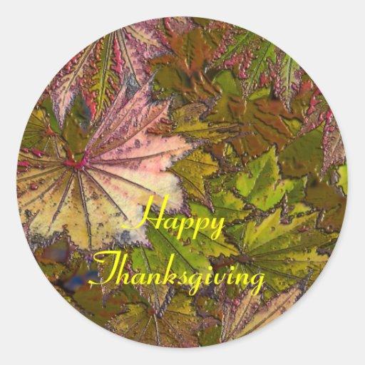 Autumn Leaves: Thanksgiving - Sticker