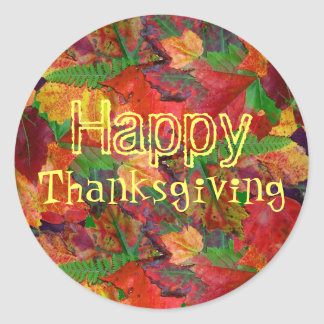 Autumn Leaves Thanksgiving Stickers