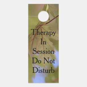 therapy door hangers zazzle