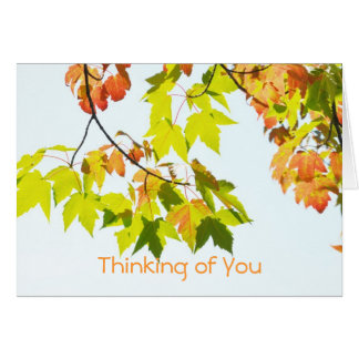 Autumn Leaves ..Thinking of You Card