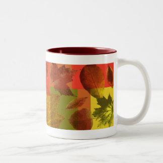 'Autumn Leaves' Two-Tone Coffee Mug