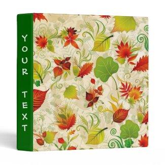 autumn leaves vinyl binders