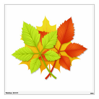Autumn leaves wall sticker
