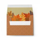 Autumn Leaves Watercolor Brown Khaki Envelope
