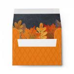 Autumn Leaves Watercolor Orange Chalkboard Envelope