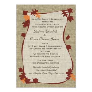 Autumn Leaves Wedding 5x7 Paper Invitation Card