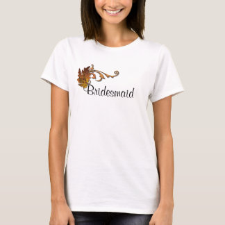 Autumn Leaves Wedding - Bridesmaid T-Shirt