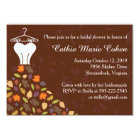 Autumn Leaves Wedding Dress Bridal Shower Card