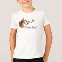 Autumn Leaves Wedding - Flower Girl T-Shirt