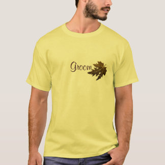 Autumn Leaves Wedding - Groom T-Shirt