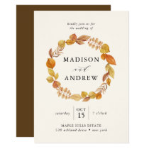 Autumn Leaves | Wedding Invitation