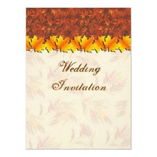 "Autumn Leaves Wedding  Invitation Card 6.5"" X 8.75"" Invitation Card"