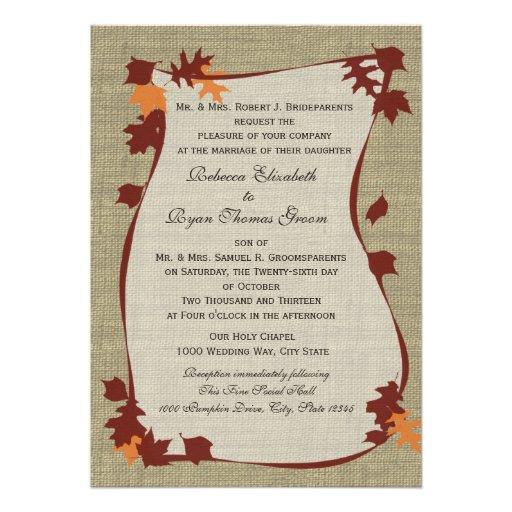 Autumn Leaves Wedding Invitations