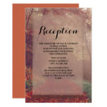 Autumn Leaves Wedding Reception Invitation