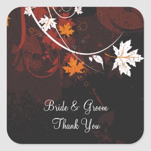 Autumn Leaves Wedding Stickers