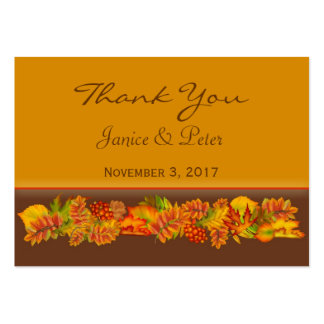 Autumn leaves Wedding Thank You Business Card