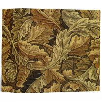 Autumn leaves William Morris pattern Binder