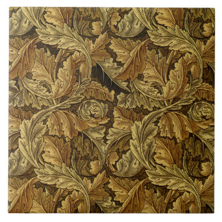 Autumn leaves William Morris pattern Ceramic Tile