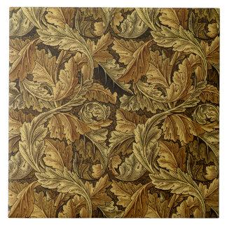 Autumn leaves William Morris pattern Ceramic Tile