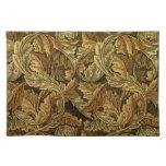 Autumn leaves William Morris pattern Cloth Placemat