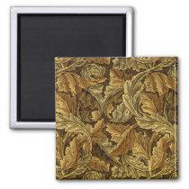 Autumn leaves William Morris pattern Magnet