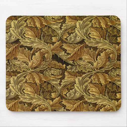 Autumn leaves William Morris pattern Mouse Pads