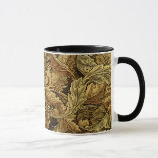 Autumn leaves William Morris pattern Mug