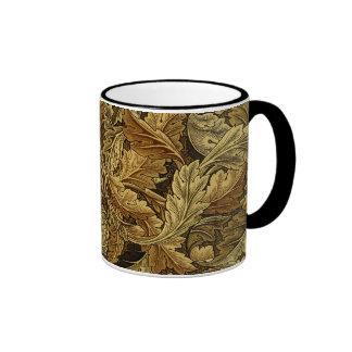 Autumn leaves William Morris pattern Coffee Mug
