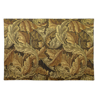 Autumn leaves William Morris pattern Cloth Placemat