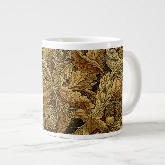 Autumn leaves William Morris pattern Extra Large Mug