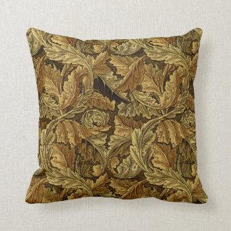 Autumn leaves William Morris pattern Throw Pillow