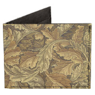 Autumn leaves William Morris vintage pattern Tyvek Wallet