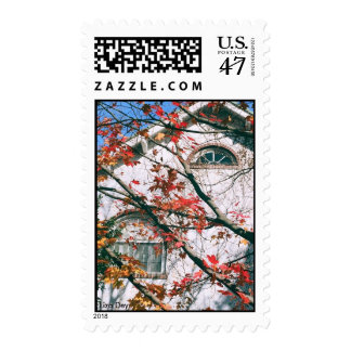 'Autumn Leaves with Blue Sky' Postage