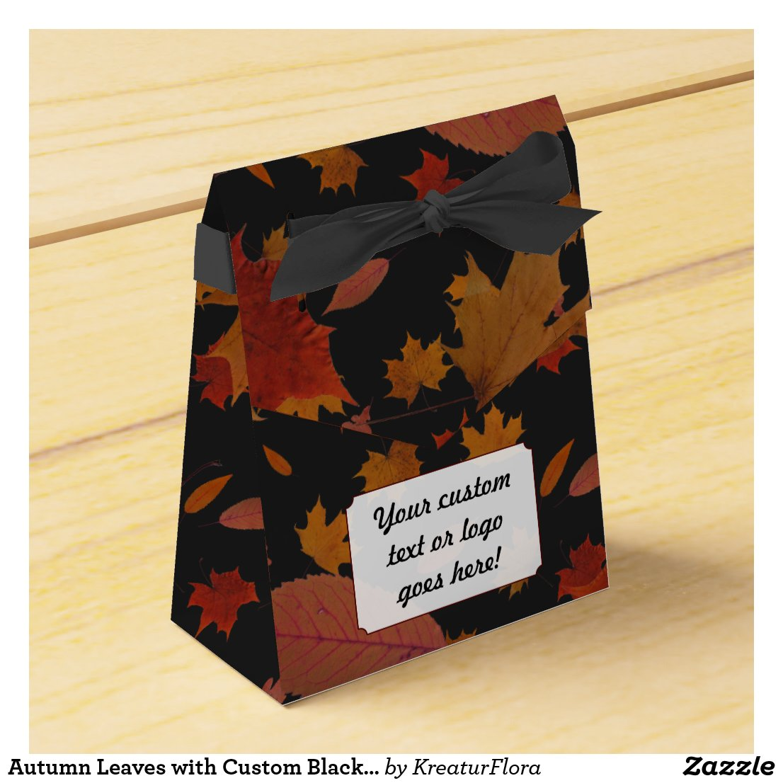 Autumn Leaves with Custom Black Color and Text