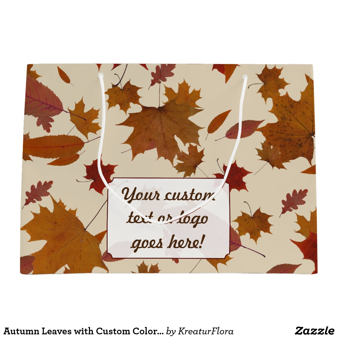 Autumn Leaves with Custom Color and Text Label