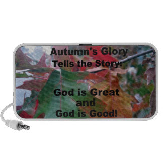 Autumn Leaves with poem iPhone Speakers