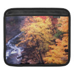 Autumn Leaves With River iPad Sleeves