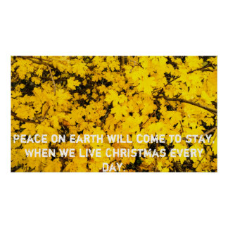 Autumn Leaves with text Poster
