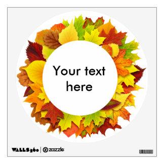 Autumn leaves wreath wall sticker