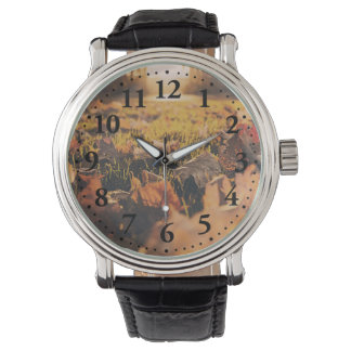 Autumn leaves wristwatches