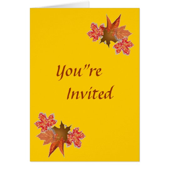 Autumn Leaves, You're Invited Card